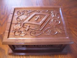 Walnut Bible Box